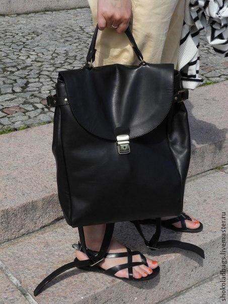 Женские сумки ручной работы. Ярмарка Мастеров - ручная работа. Купить Кожаный рюкзак-портфель  ' Деловые люди'. Handmade.