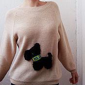 Одежда ручной работы. Ярмарка Мастеров - ручная работа Джемпер с собакой терьером 2. Handmade.