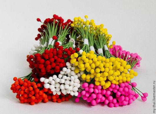Тычинки на проволоке. Цвета в ассортименте My Thai Материалы для флористики из Таиланда