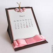 """Свадебный салон ручной работы. Ярмарка Мастеров - ручная работа приглашение """"Календарь"""". Handmade."""