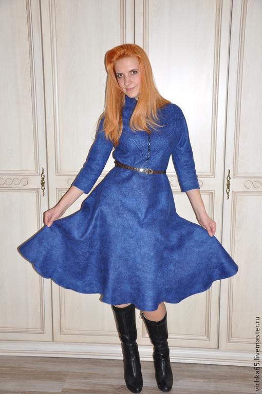 """Платья ручной работы. Ярмарка Мастеров - ручная работа. Купить Валяное платье для """"АннА"""" Стиль Нью Лук - стиль истинных женщ. Handmade."""