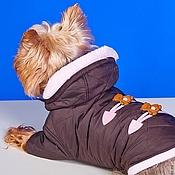 """Для домашних животных, ручной работы. Ярмарка Мастеров - ручная работа Курточка """"Шоколадный Мишка"""". Handmade."""
