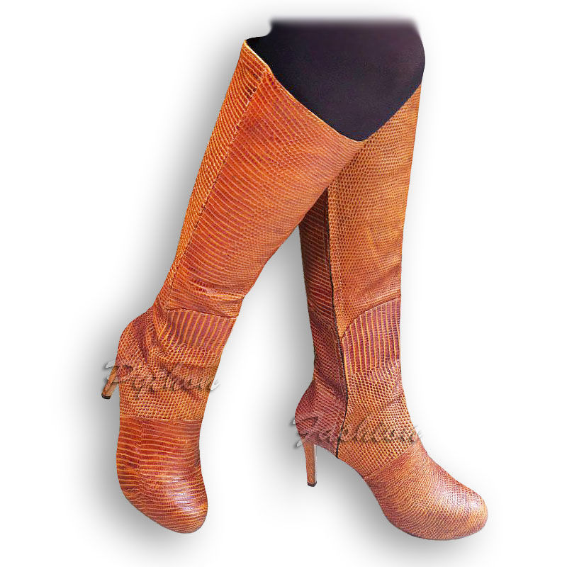 Boots made of lizard skin PALLADA, High Boots, Kuta,  Фото №1