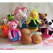 Подарки к праздникам ручной работы. Ярмарка Мастеров - ручная работа Набор вязаных грелочек для яиц. Handmade.
