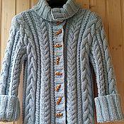 Одежда ручной работы. Ярмарка Мастеров - ручная работа Кардиган спицами. Handmade.