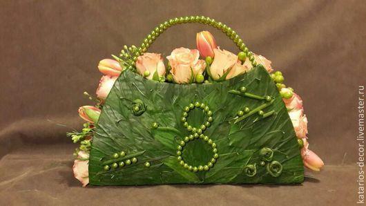 Букеты ручной работы. Ярмарка Мастеров - ручная работа. Купить Сумочки с живыми цветами. Handmade. Живые цветы, розы, розы