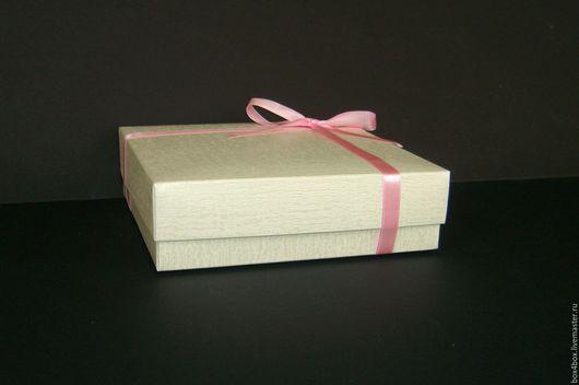 Упаковка ручной работы. Ярмарка Мастеров - ручная работа. Купить Коробки 20x20x6 см подарочные. Handmade. Бежевый, айвори, коробки
