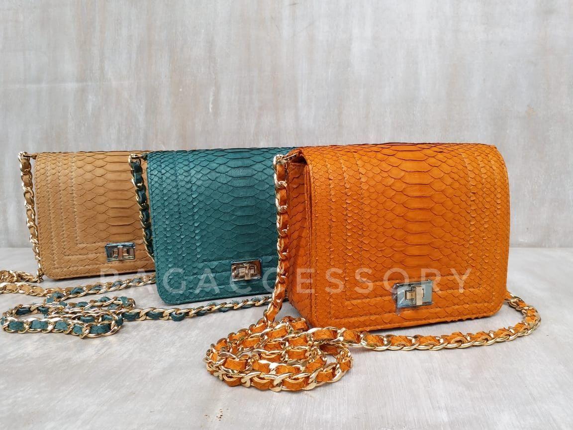 Handbag made of genuine Python leather, Classic Bag, Moscow,  Фото №1