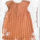 Одежда для девочек, ручной работы. Ярмарка Мастеров - ручная работа. Купить Вязаное детское платье для девочки Нежный персик из хлопка. Handmade.