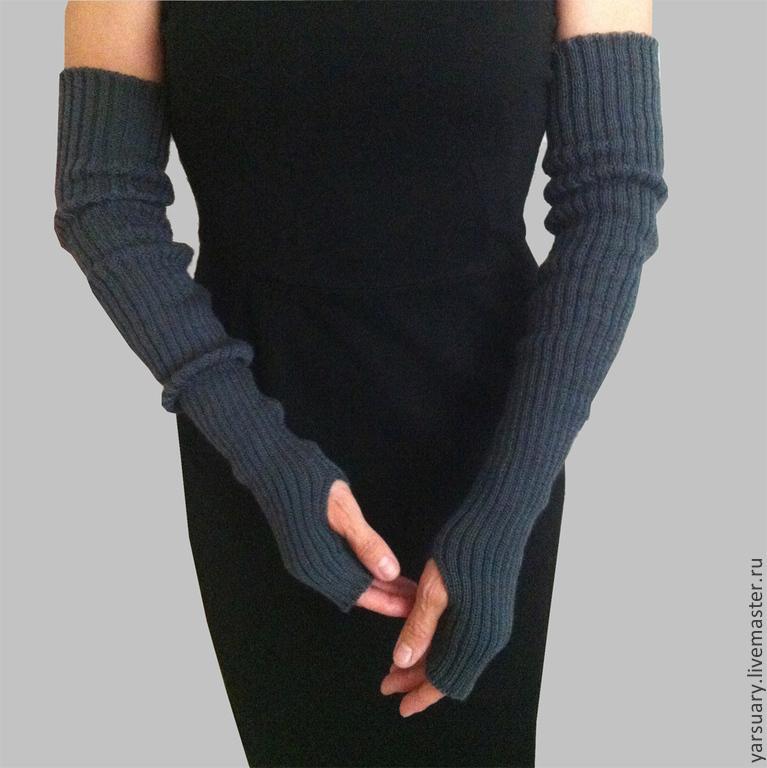 Митенки-рукава длинные вязаные купить Митенки длинные ...