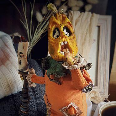 Dolls & toys handmade. Livemaster - original item Halloween pumpkin. Handmade.