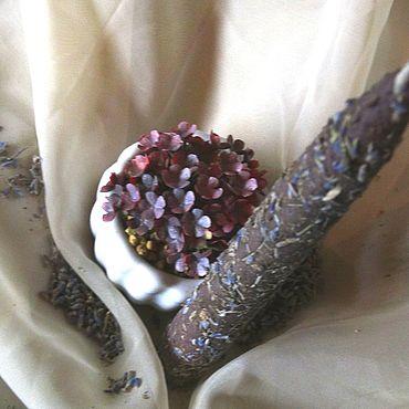 Для дома и интерьера ручной работы. Ярмарка Мастеров - ручная работа Свеча лавандовая катаная. Handmade.