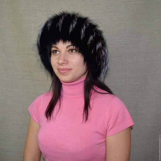 Повязки ручной работы. Ярмарка Мастеров - ручная работа. Купить Меховая повязка на голову. Handmade. Черный, головные уборы для женщин