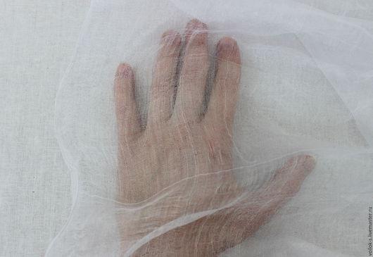 Валяние ручной работы. Ярмарка Мастеров - ручная работа. Купить Шелк разреженный белый 90 см. Handmade. Белый