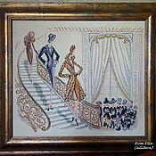"""Картины и панно ручной работы. Ярмарка Мастеров - ручная работа Вышитая картина Helen Tran """"Показ мод"""". Handmade."""