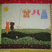 Для дома и интерьера ручной работы. Ярмарка Мастеров - ручная работа Хорошо летом, теплооооо!.. Текстильная картинка Готовая работа. Handmade.
