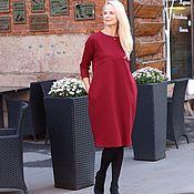Одежда handmade. Livemaster - original item EGGDRESS JERSEY BORDO dress. Handmade.