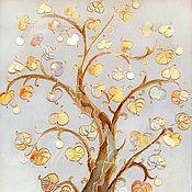 Картины и панно ручной работы. Ярмарка Мастеров - ручная работа ДЕНЕЖНОЕ ДЕРЕВО -золотая поталь. Handmade.