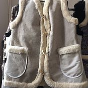 Одежда handmade. Livemaster - original item Vest made of a whole sheepskin 48. Handmade.