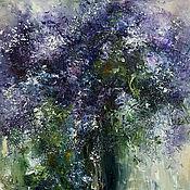 Картины и панно handmade. Livemaster - original item Painting Lilac 2, painting interior, lilac oil. Handmade.