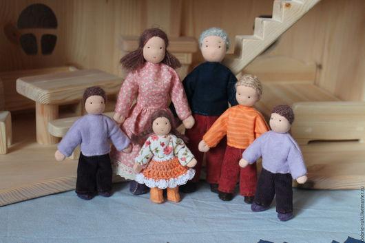 Вальдорфская игрушка ручной работы. Ярмарка Мастеров - ручная работа. Купить Кукольная семья. Handmade. Комбинированный, каркасная игрушка