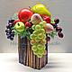 Интерьерные композиции ручной работы. Заказать Короб с фруктами. Наталья Киселева (njuki). Ярмарка Мастеров. Для дома и дачи