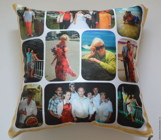 Персональные подарки ручной работы. Ярмарка Мастеров - ручная работа. Купить Подушка с фото  подарок женщине на день рождения подарок на юбилей. Handmade.