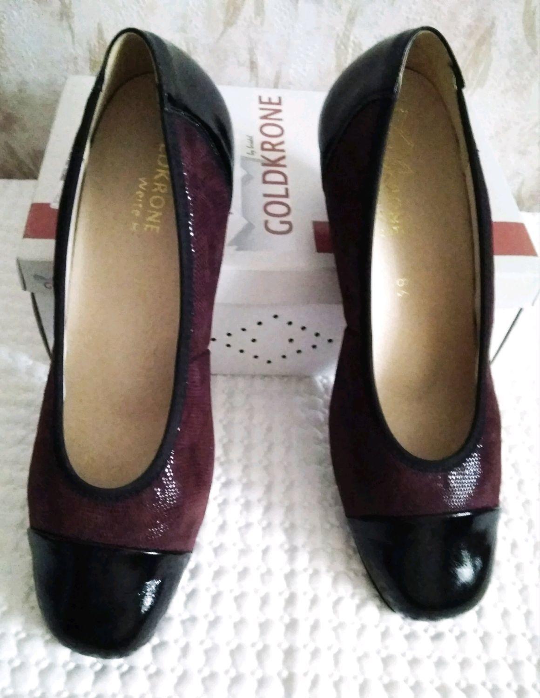 Винтаж: 42 размер Туфли из кожи Goldkrone, Германия, Обувь винтажная, Фирово,  Фото №1
