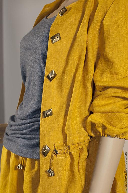 Пиджаки, жакеты ручной работы. Ярмарка Мастеров - ручная работа. Купить Пиджак Горчица. Handmade. Цветной пиджак, стильный пиджак