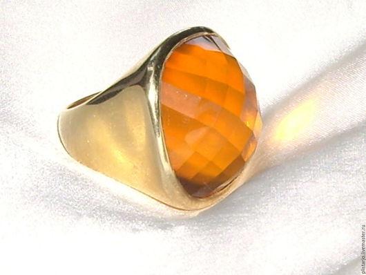 Винтажные украшения. Ярмарка Мастеров - ручная работа. Купить крупное кольцо,серебро,позолота,винтаж. Handmade. Желтый, винтажное украшение