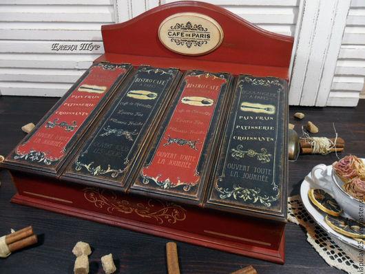 """Мини-комоды ручной работы. Ярмарка Мастеров - ручная работа. Купить """"Сafe de Paris"""" ящик, короб для столовых приборов. Handmade."""