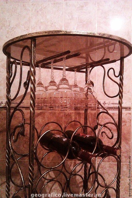 Мебель ручной работы. Ярмарка Мастеров - ручная работа. Купить Стойка для винных бутылок. Handmade. Стойка для винных бутылок, подставка