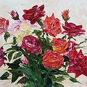 Картины и панно ручной работы. Ярмарка Мастеров - ручная работа Картина Букет роз. Handmade.