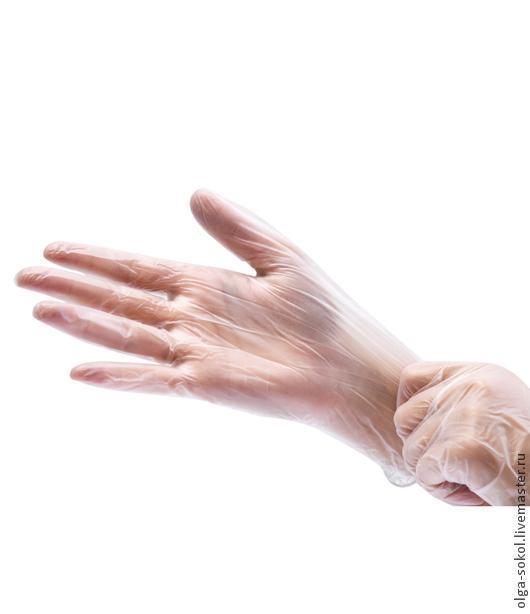 Перчатки виниловые для валяния (раскладки и притирания)