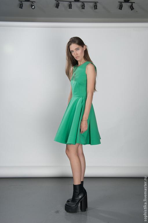 Платья ручной работы. Ярмарка Мастеров - ручная работа. Купить Мятное платье с пышной юбкой. Handmade. Мятный, платье с полнией