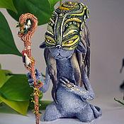 Куклы и игрушки handmade. Livemaster - original item Priestess Locate tribe Ula-Tonga. Cat race. Repeat. Handmade.