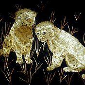 Картины и панно ручной работы. Ярмарка Мастеров - ручная работа Молодые гепарды (Jennes gepards). Handmade.