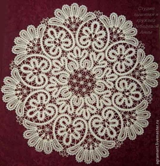 Текстиль, ковры ручной работы. Ярмарка Мастеров - ручная работа. Купить Салфетка д.52 Вологодское кружево. Handmade.