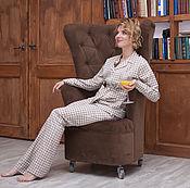 Одежда ручной работы. Ярмарка Мастеров - ручная работа Классическая пижама из хлопка. Handmade.