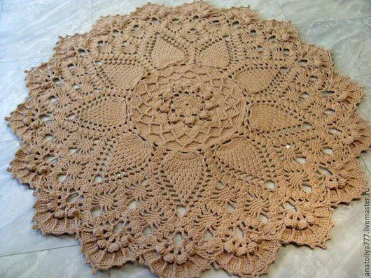 Текстиль, ковры ручной работы. Ярмарка Мастеров - ручная работа. Купить Ковер ручной работы из шнура Грандиозный. Handmade.