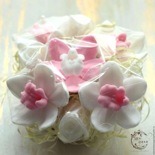 """Мыло ручной работы. Ярмарка Мастеров - ручная работа. Купить Мыльный букет """"Нежность"""". Handmade. Бледно-розовый, бутоны роз"""