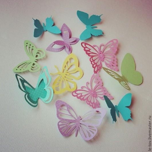 """Детская ручной работы. Ярмарка Мастеров - ручная работа. Купить Набор бабочек """"Детство"""". Handmade. Разноцветный, интерьер, бабочки на стену"""