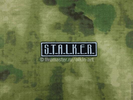 Нашивка `S.T.A.L.K.E.R.` (прямая) Машинная вышивка. Белорецкие нашивки. Нашивка. Шеврон. Патч. Вышивка. Шевроны.  Патчи. Нашивки. Купить нашивку.
