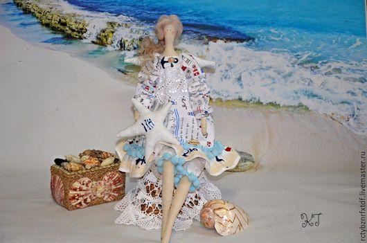 """Куклы Тильды ручной работы. Ярмарка Мастеров - ручная работа. Купить Аврил текстильная, интерьерная кукла Тильда """"Морская Фея"""". Handmade."""