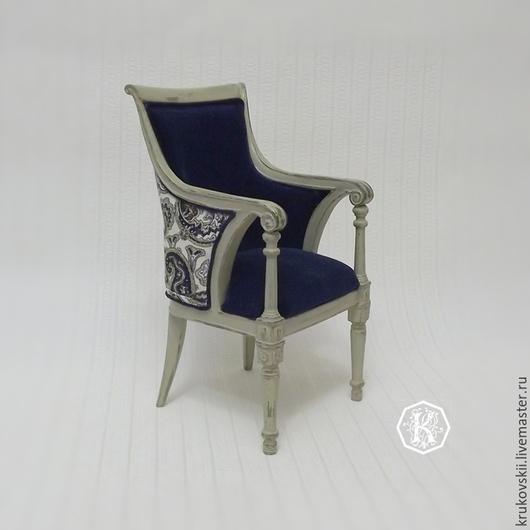 Кукольный дом ручной работы. Ярмарка Мастеров - ручная работа. Купить Мебель для кукол. Кресло со скругленной спинкой. Handmade.