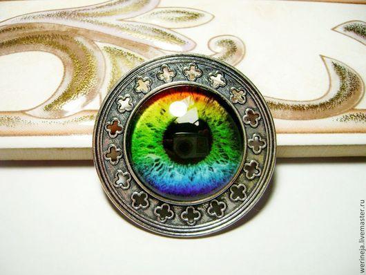"""Броши ручной работы. Ярмарка Мастеров - ручная работа. Купить Брошка """"Глаз"""" - радужный. Handmade. Разноцветный, брошка, броши купить"""