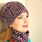 Аксессуары handmade. Livemaster - original item Felted hat..women. Pink evening... Handmade.
