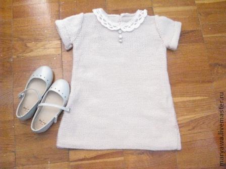 """Одежда для девочек, ручной работы. Ярмарка Мастеров - ручная работа. Купить Платье """"Парижанка"""". Handmade. Бежевый, платье для девочки"""