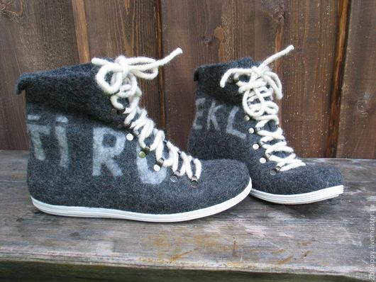 Обувь ручной работы. Ярмарка Мастеров - ручная работа. Купить Валяные кеды ASPEN. Handmade. Серый, валенки для улицы