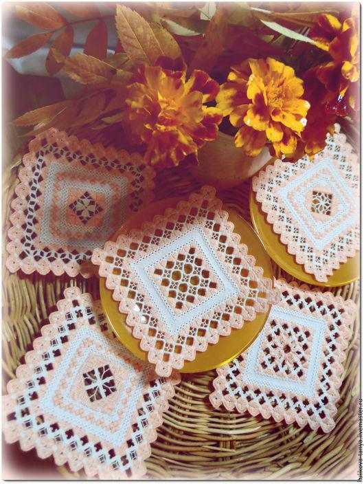Красивые салфетки с вышивкой  оригинальный узор столовое белье для сервировки стола для чаепития для уютной кухни  подставка под чашки подставка под кружки приятный подарок для уютного дома
